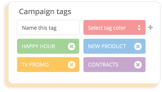 Campaign tags example.