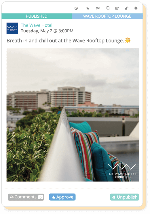Collaboration example with The Wave Hotel.